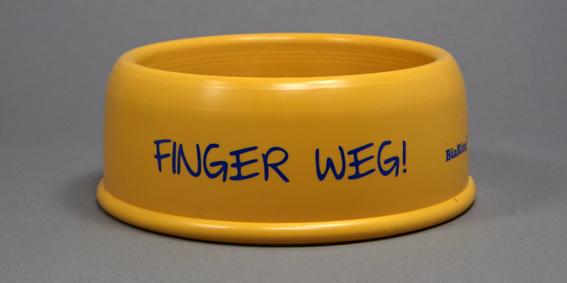 BiaRing Gelb Finger weg  i steh auf di!